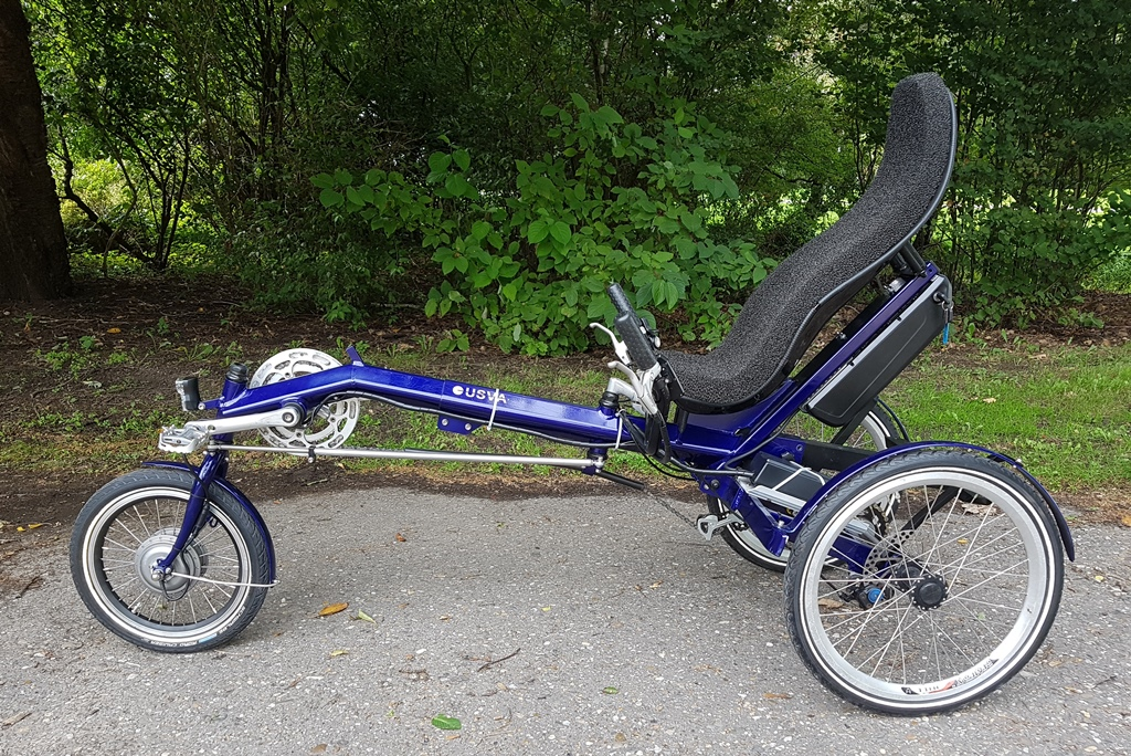 usva driewieler elektrisch 612 wh