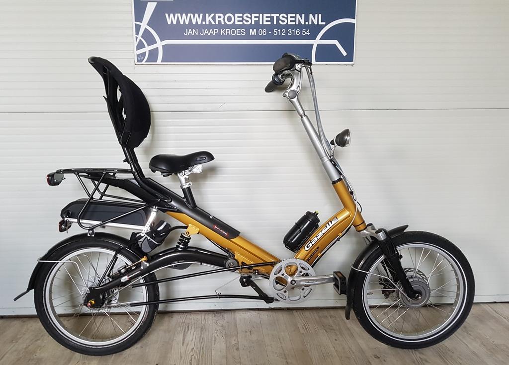 semi-ligfiets gazelle easy glider de luxe elektrisch €1549